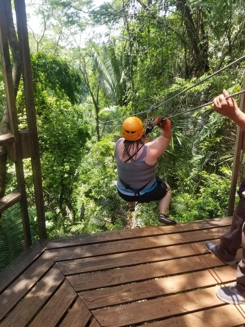 Belize Cave Tubing and Jungle Zip Line Excursion zipline and cave tubing