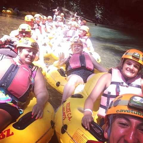 Belize Nohoch Che'en Caves Branch Cave Tubing Excursion Fun!