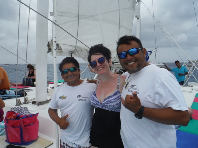 Best Cozumel Catamaran Sail and Snorkel Excursion Awesome Crew!