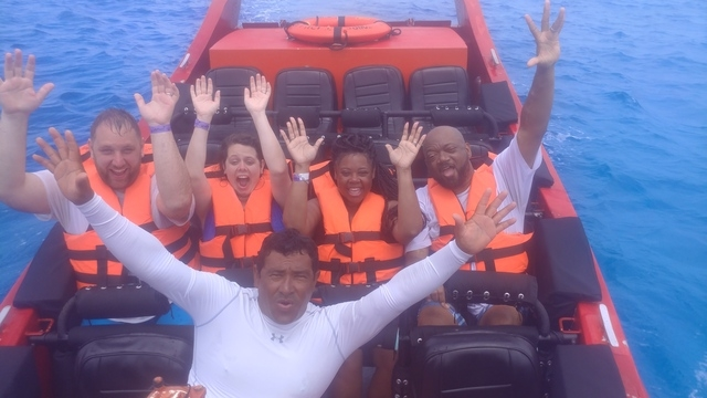 Cozumel Thriller Jet Speed Boat Excursion Fun times