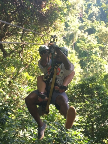 Roatan Canopy Zip Line and Beach Break Adventure Combo Excursion Best Island and Best Excursion