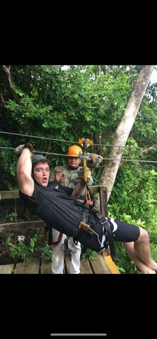 Roatan Canopy Zip Line and Beach Break Adventure Combo Excursion Christmas in Roatan