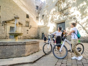 Barcelona Electronic Bike, Montejuic Cable Car, Boat, Sagrada Familia and Park Guell Excursion