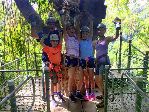 Roatan ziplining Booking