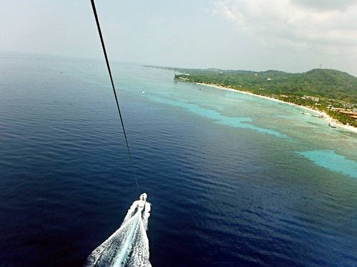 Roatan parasailing at West End Cruise Excursion Cost