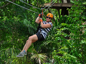 Belize Crocodile Encounter and Zipline Adventure Excursion