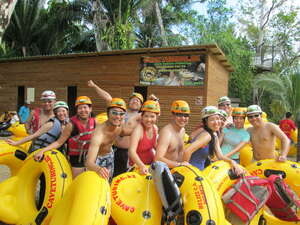 Belize Nohoch Che'en Caves Branch Cave Tubing Excursion