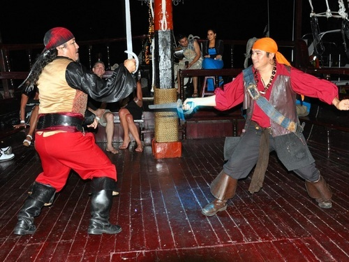 Cozumel Island Pirate Ship Lobster and Steak Dinner Cruise Excursion Cost