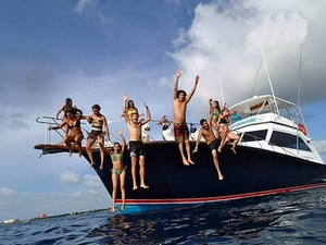 Cozumel Private Luxury Snorkel and Fishing Yacht Charter Excursion