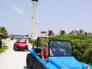 Cozumel Punta Sur Park Dune Buggy, Coral Reef Snorkel, Beach and Island Highlights Excursion