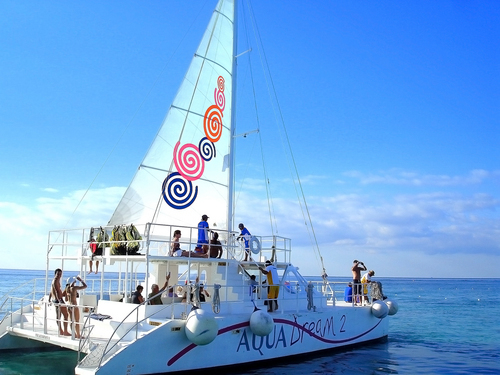 Cozumel Sail and Snorkel Catamaran Shore Excursion Reservations