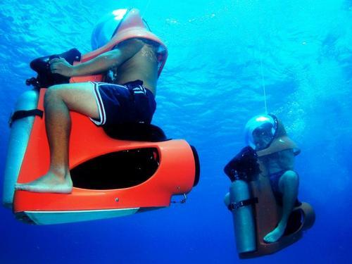 Cozumel Underwater scooter Cruise Excursion Reservations