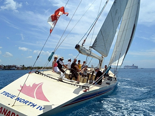 Cozumel  Mexico sailboat racing Cruise Excursion