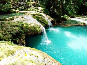 Falmouth Blue Hole and Dunn's River Falls Combo Excursion