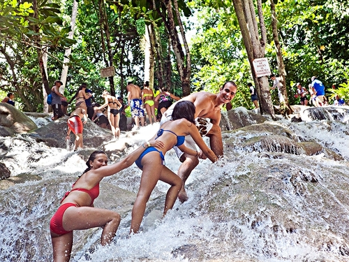 Falmouth Dunn's River Falls, Ocho Rios Highlights and Jamaican Lunch Excursion