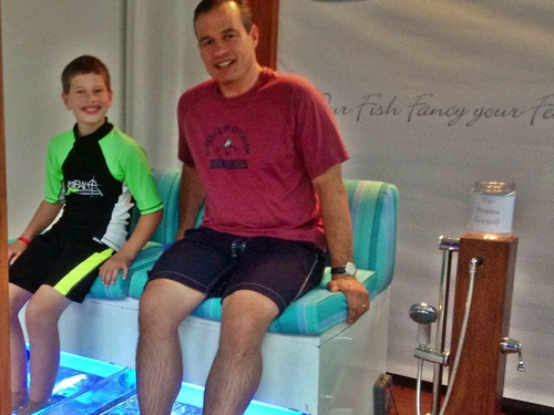 Cozumel Mexico Mr. Sanchos fish pedicure Cruise Excursion Reservations