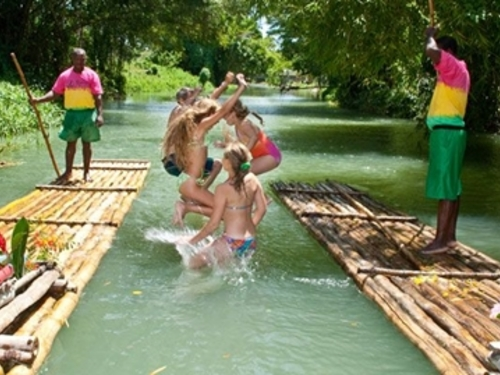 Montego Bay Jamaica bamboo river raft Cruise Excursion Reservations
