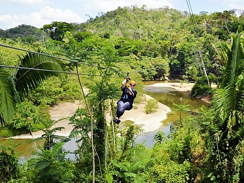 Belize canopy and tubing Cruise Excursion Booking