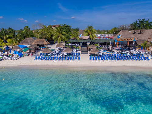 Port of Cozumel Carlos and Charlies Beach Club day package beach day