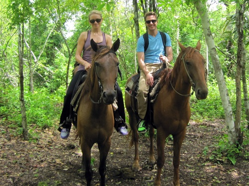 Roatan jungle horse riding Shore Excursion Booking