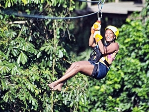 Harvest Caye Rio Grande Jungle Zip Line Excursion