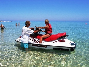 Jet Ski at Mr. Sanchos Beach Club in Cozumel from Playa del Carmen