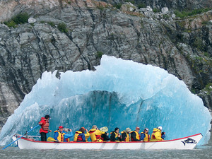 Juneau Mendenhall Glacier Lake Canoe Adventure Excursion