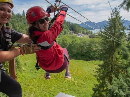 Ketchikan Rainforest Zip Skybridge And Rappel Adventure Excursion Ketchikan Excursions