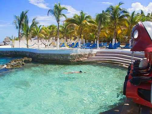 Cozumel  Mexico beach and pool area Excursion