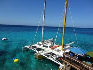 Montego Bay Freestyle Catamaran Sail and Snorkel and Doctor's Cave Beach Excursion
