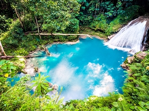 Ocho Rios Blue Hole and Dunn's River Falls Adventure Combo Excursion