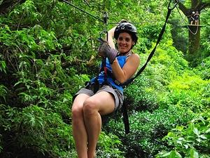 Ocho Rios Zip Line, Dunn's River Falls and City Sightseeing Excursion