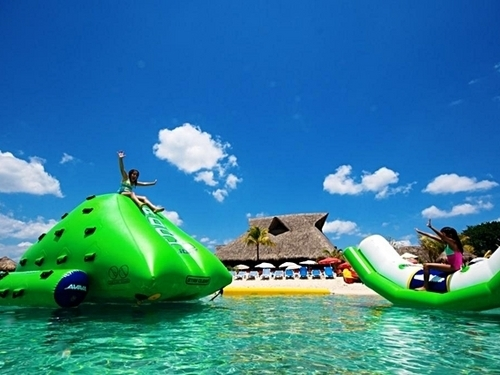 Cozumel floating water toys Cruise Excursion