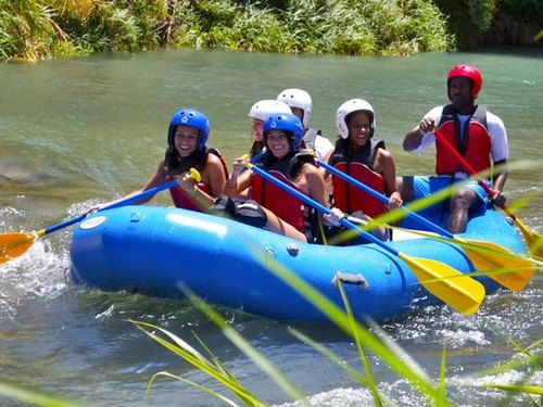 Falmouth  Jamaica riding the rapids Tour