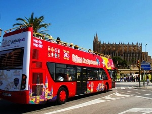 Palma de Mallorca City Hop On Hop Off Bus Sightseeing and Walking Excursion