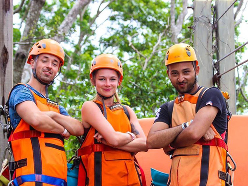 Roatan jungle canopy zipline Excursion