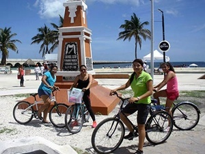Progreso Bike Sightseeing and Beach Break Excursion