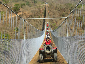 Puerto Vallarta ATV Jorullo Suspension Bridge and Waterfall Excursion
