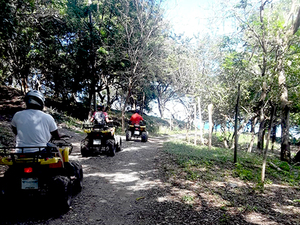 Roatan ATV Off Road Adventure and Monkey Sloth Hangout Excursion