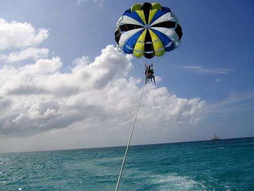 Roatan parasailing at West End Tickets