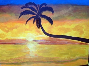 Roatan Tropical Painting and Club Natale All Inclusive Beach Break Excursion