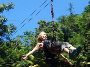 Roatan Zip Line, Monkey Park and Beach Break Excursion