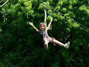 Roatan Zipline, Monkey and Sloth Hangout, Snorkel and Beach Break Excursion