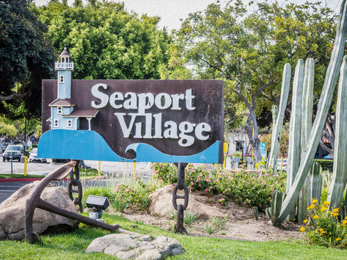 San Diego  California Seaport Village trolley Trip Cost