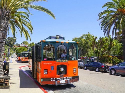 San Diego Historic Gaslamp Quarter trolley Trip Reservations