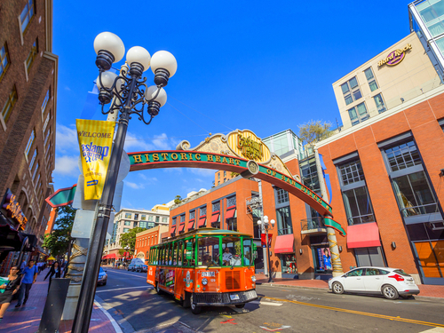 San Diego  California Horton Plaza trolley Shore Excursion Booking