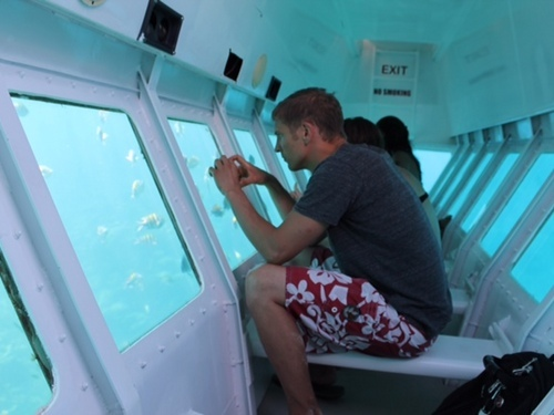 Roatan Honduras glass bottom boat Tour Tickets