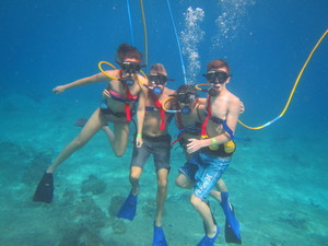 SNUBA Diving Excursion and Shore Snorkeling Adventure in Cozumel