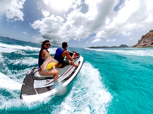 St. John's Antigua Jet Ski  Beach Break Adventure Excursion