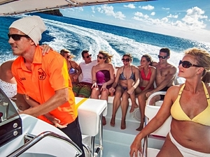 St. John's Antigua Thriller Speedboat and Beach Excursion